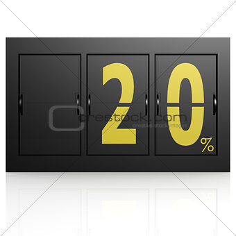 Airport display board 20 percent