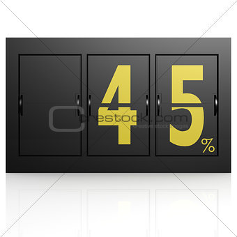 Airport display board 45 percent