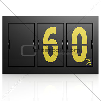 Airport display board 60 percent