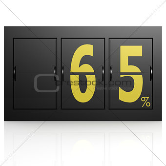 Airport display board 65 percent
