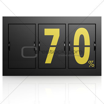 Airport display board 70 percent