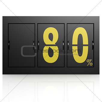 Airport display board 80 percent