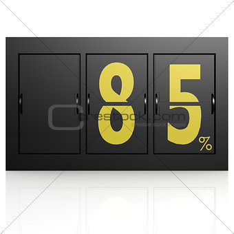 Airport display board 85 percent