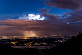 Thunderstorm over plain of Varese
