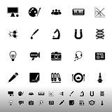 General learning icons on white background