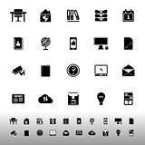 Home office icons on white background