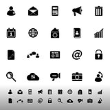 Mobile phone icons on white background