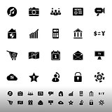 Smart phone icons on white background