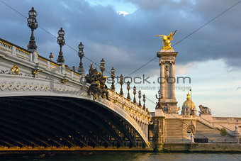 Pont Alexandre III at twilight