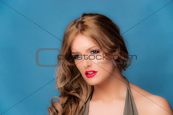beautiful woman looking distracted