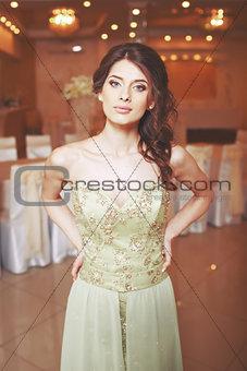 Charming young beautiful bride.