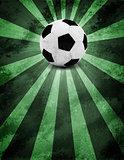 Soccer ball. Grunge style