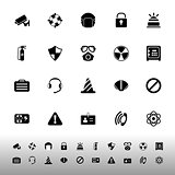 Safety icons on white background