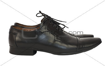 Pair of men's shoes in classic style