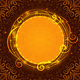 Abstract brown mystic lace background with swirl pattern and frame for text