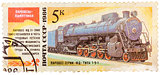 Stamp printed in the USSR shows the FD 21-3000 steam locomotive
