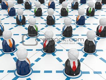 Business network concept. Communication.