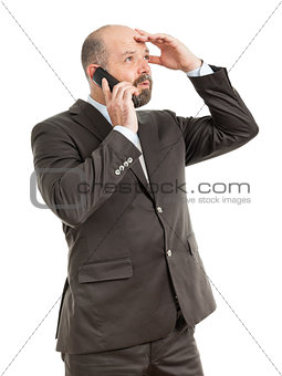 business man phone