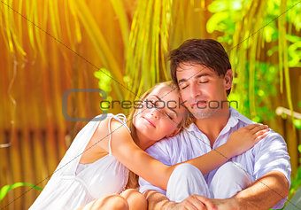 Gentle couple in vacation