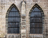 Old church window showing much detail and texture