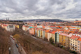 Prague panorama view from Vysehrad, Shallow depth of field