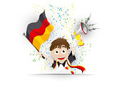 Germany Soccer Fan Flag Cartoon