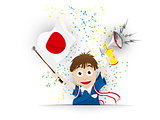 Japan Soccer Fan Flag Cartoon