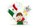 Mexico Soccer Fan Flag Cartoon