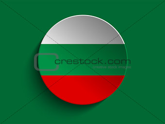 Flag Paper Circle Shadow Button Bulgaria