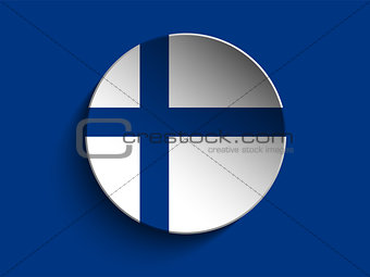 Flag Paper Circle Shadow Button Finland