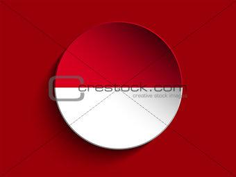 Flag Paper Circle Shadow Button Monaco