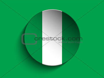 Flag Paper Circle Shadow Button Nigeria