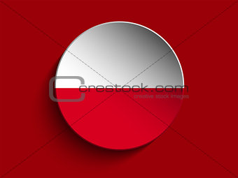 Flag Paper Circle Shadow Button Poland