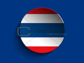 Flag Paper Circle Shadow Button Thailand