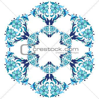 blue ottoman serial patterns twenty-five