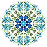 blue ottoman serial patterns twenty-four