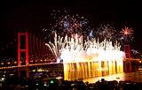 Istanbul Bosphorus Bridge Firework