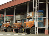 Parked Indian Trucks