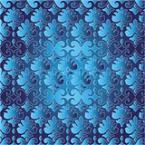 blue ottoman serial seamless pattern