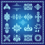 decorative design elements blue