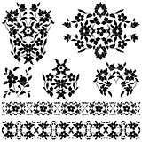 elegant pattern black and white