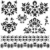 elegant pattern version black and white