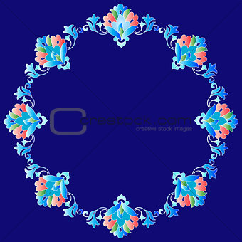 Frame with flowers of Ottoman art one version