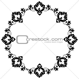Frame with flowers of Ottoman art one