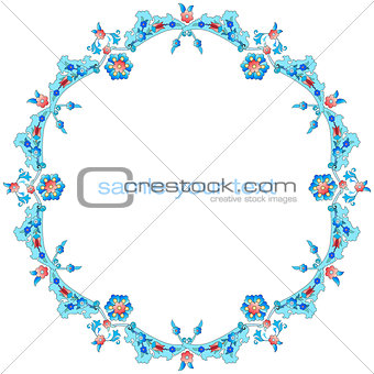 Frame with flowers of Ottoman art three version