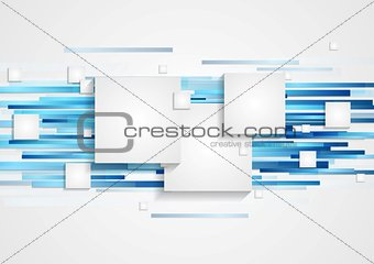Abstract tech geometry background