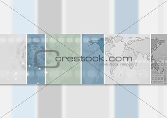 Abstract hi-tech banner design