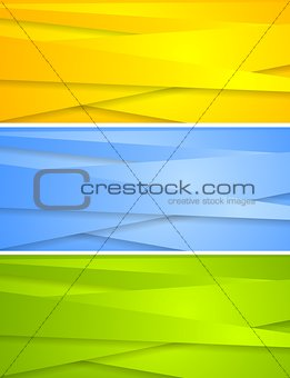 Abstract technical banners template
