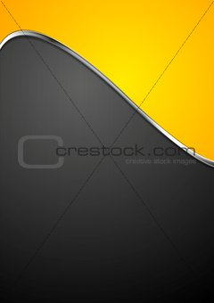Abstract background with metallic silver wave