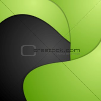 Abstract bright wavy background